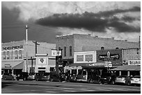 Main street, Custer. Black Hills, South Dakota, USA ( black and white)
