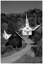 Waits River church. Vermont, New England, USA ( black and white)