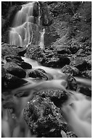 Moss Glen Falls, Green Mountains. Vermont, New England, USA (black and white)
