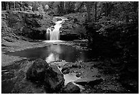 Amnicon Falls State Park. Wisconsin, USA (black and white)