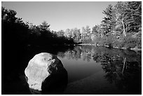 Pond. Wisconsin, USA ( black and white)