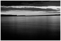 Apostle Islands National Lakeshore at sunset. Wisconsin, USA (black and white)