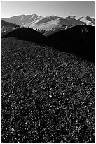 Dark pumice, Craters of the Moon National Monument. Idaho, USA ( black and white)