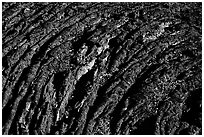 Hardened Lava, Craters of the Moon National Monument. Idaho, USA (black and white)
