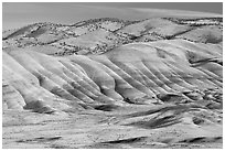 Painted hills. John Day Fossils Bed National Monument, Oregon, USA ( black and white)