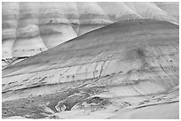 Colorful hummocks and hills. John Day Fossils Bed National Monument, Oregon, USA ( black and white)