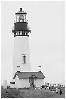 Yaquina Head Lighthouse. Newport, Oregon, USA ( black and white)