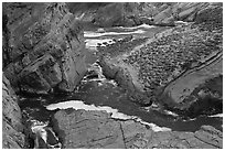Cliffs and slabs, Shore Acres. Oregon, USA (black and white)