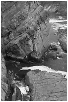 Slabs and cliffs, Shore Acres. Oregon, USA ( black and white)
