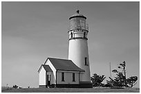 Cape Blanco Lighthouse. Oregon, USA ( black and white)