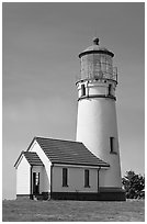 Cape Blanco Lighthouse tower. Oregon, USA ( black and white)