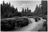 Cascades of the Rogue River. Oregon, USA ( black and white)