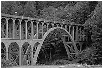 Highway 1 bridge,  Heceta Head. Oregon, USA ( black and white)