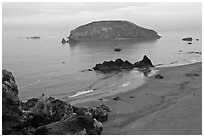 Harris Beach State Park. Oregon, USA (black and white)