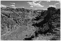 Succor Creek canyon. Oregon, USA ( black and white)