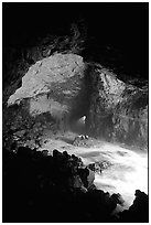 Sea Lion cave. Oregon, USA (black and white)