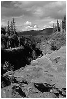 Lava Canyon. Mount St Helens National Volcanic Monument, Washington ( black and white)