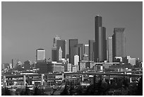 Downtown skyline. Seattle, Washington ( black and white)