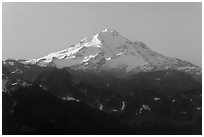 Glacier Peak, early morning. Washington ( black and white)