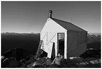 Hidden Lake Lookout, early morning, Mount Baker Glacier Snoqualmie National Forest. Washington ( black and white)