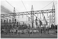Transmission substation, Newhalem. Washington (black and white)