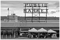 Pike Place Market. Seattle, Washington ( black and white)
