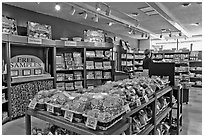Fruit confectionery, Liberty Orchards store, Cashmere. Washington (black and white)