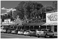 Main Street, Winthrop. Washington ( black and white)