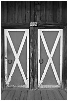 Doors, Winthrop. Washington (black and white)