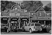Stores in western style, Winthrop. Washington ( black and white)