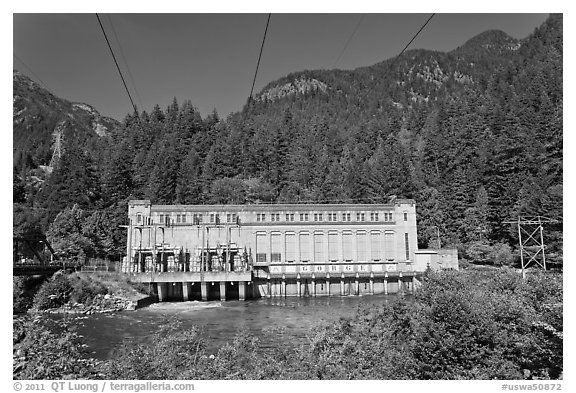 Gorge Dam in summer, Newhalem. Washington