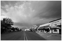Main Street at sunrise, Chelan. Washington ( black and white)