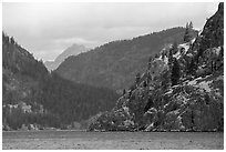 Ridges and Cascades mountains, Lake Chelan. Washington ( black and white)