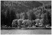 Lucerne landing, Lake Chelan. Washington ( black and white)