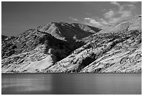 Hills bordering Lake Chelan. Washington ( black and white)
