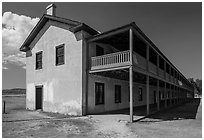 Cavalry Barracks. Fort Laramie National Historical Site, Wyoming, USA ( black and white)