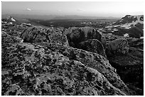 Rocks at sunset, Beartooth Range, Shoshone National Forest. Wyoming, USA ( black and white)