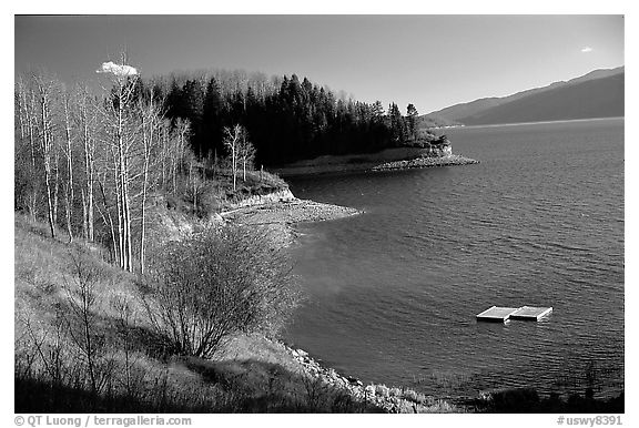 Palissades Reservoir. Wyoming, USA (black and white)