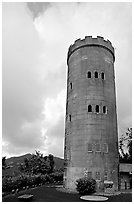 Yokahu Tower, El Yunque, Carribean National Forest. Puerto Rico (black and white)