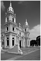Cathedral Nuestra Senora de Guadalupe, Ponce. Puerto Rico ( black and white)