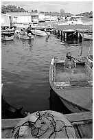 Small boat harbor, La Parguera. Puerto Rico ( black and white)