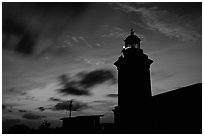Lighthouse at dusk, Cabo Rojo. Puerto Rico ( black and white)