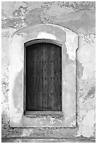 Door in El Morro Fortress. San Juan, Puerto Rico ( black and white)