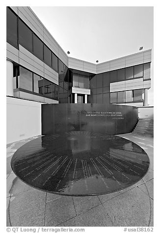 Civil Rights Memorial, Southern Poverty and Law Center. Montgomery, Alabama, USA (black and white)