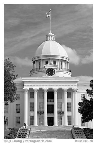 State Capitol built in 1851. Montgomery, Alabama, USA (black and white)