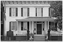 First White House of the Confederacy. Montgomery, Alabama, USA (black and white)