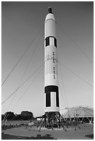 American Rockets, National Aeronautics and Space Administration Flight Center. Cape Canaveral, Florida, USA ( black and white)