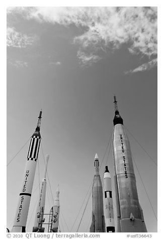 NASA rockets, Kennedy Space Centre. Cape Canaveral, Florida, USA
