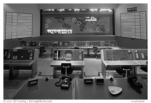 Control room, NASA, Kennedy Space Center. Cape Canaveral, Florida, USA