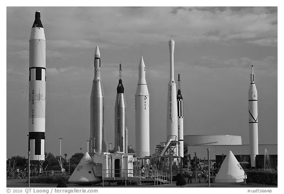 Rocket garden, John F Kennedy Space Center. Cape Canaveral, Florida, USA